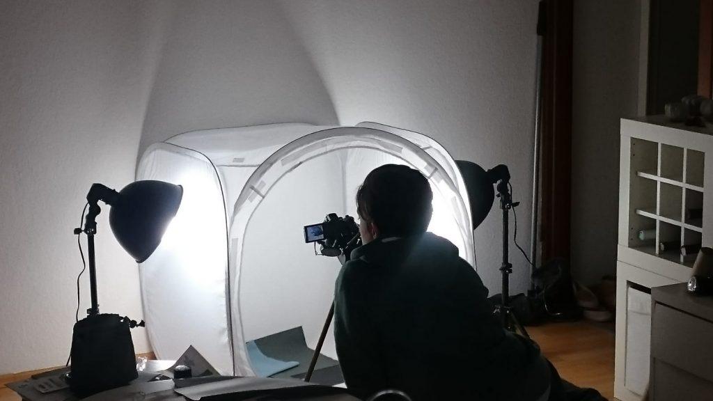 Fotos machen Lichtwürfel nähen mein Jahr 2018 made by Oni