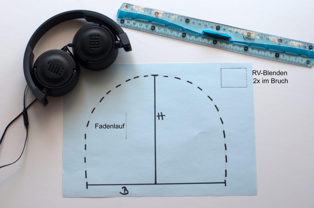 Kopfhörertasche JBL made by Oni nähen Schnittmuster erstellen