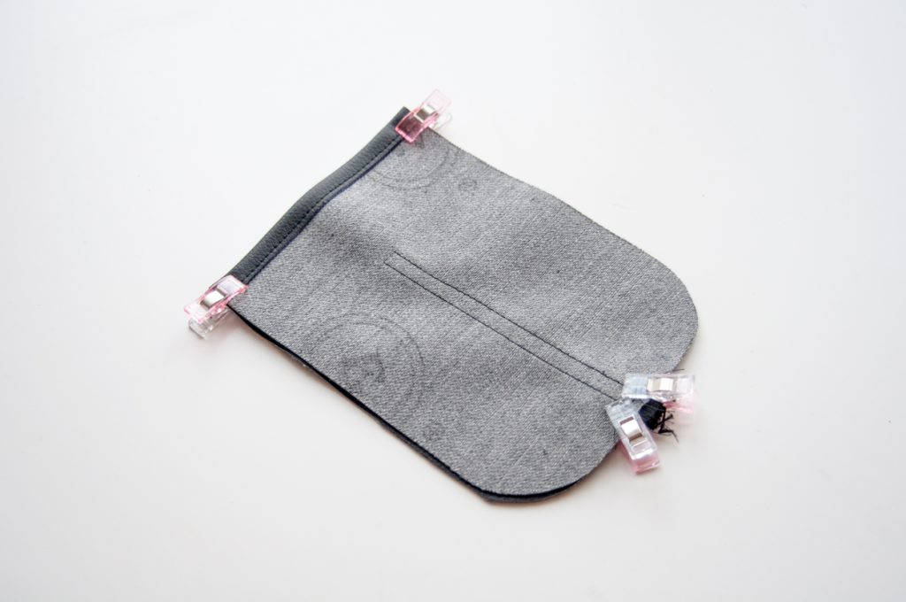 Handy Tasche Kunstleder made by Oni Schnitteile vernähen
