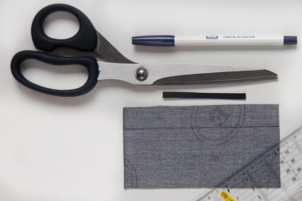 DIY Kunstleder Tassel made by Oni Material Vorbereitung